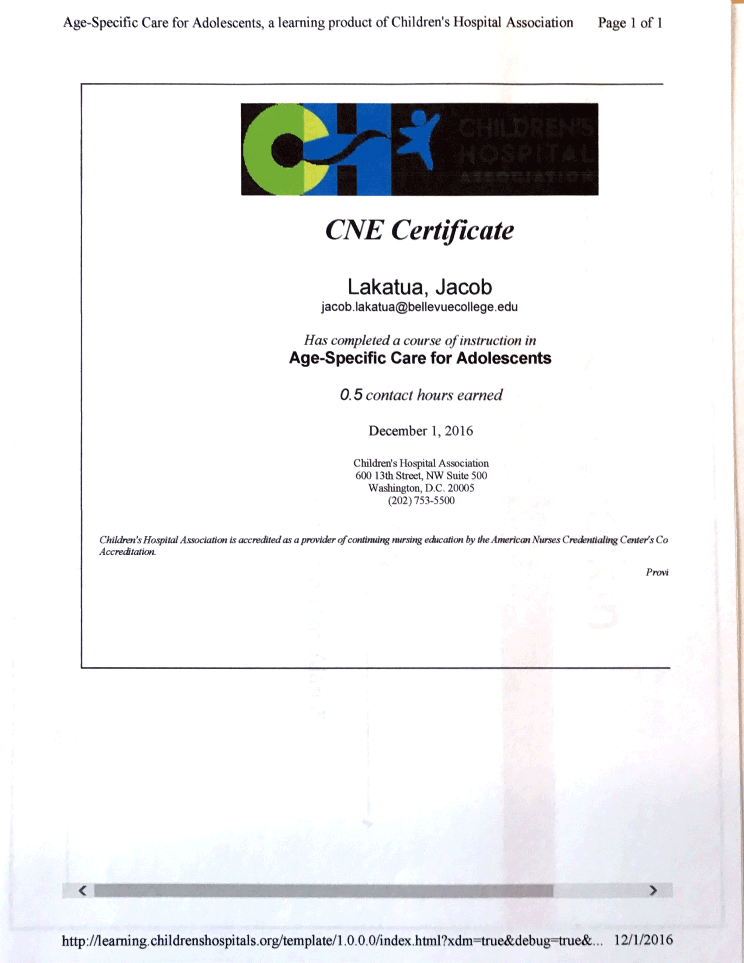 Certifications achievements care of adolescents ceu xflitez Gallery